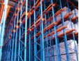 Drive in racking for reach truck storage