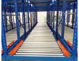 Gravity Pallet flow rack first in first out (FIFO)