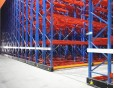Mobile pallet rack, mobile racking for compact storage in a cold store
