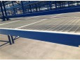 Steel grating panel for pallet rack decking