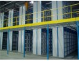 2 floors warehouse shelving Mezzanine for small parts storage