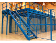 Two levels floor Mezzanine Rack for parts storage