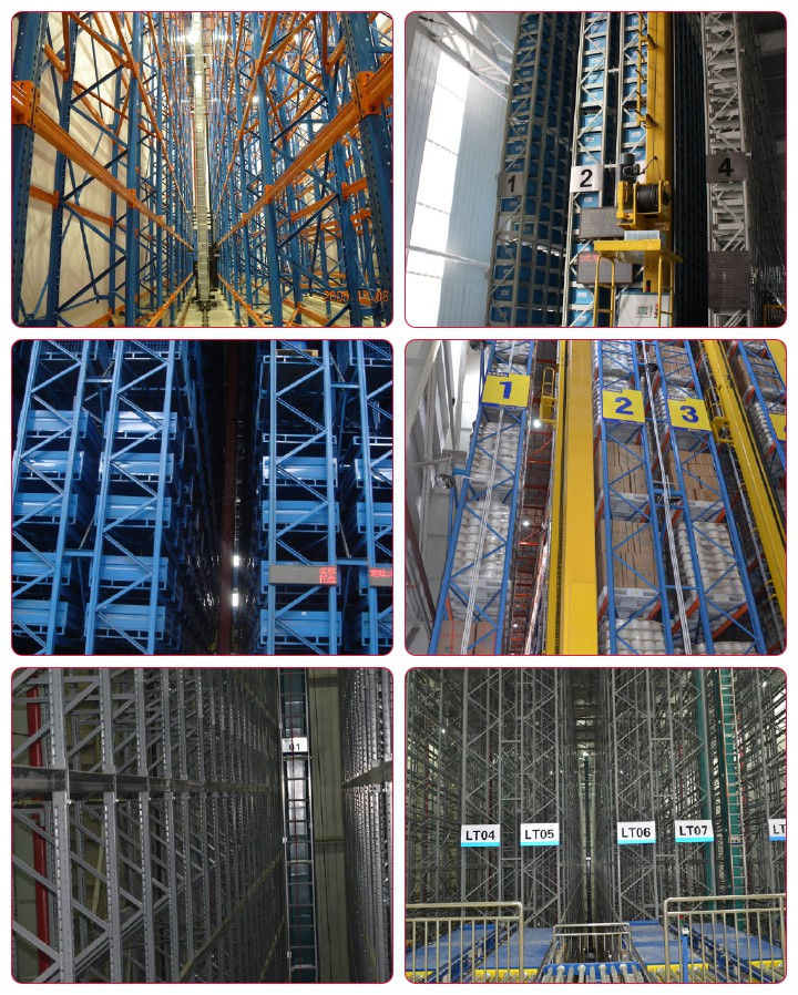 ASRS racking, automated storage and retrieval systems
